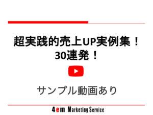 超実践的売上アップ実例集!30連発!(サンプル動画あり)